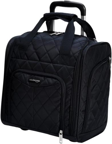 underseat luggage black quilted