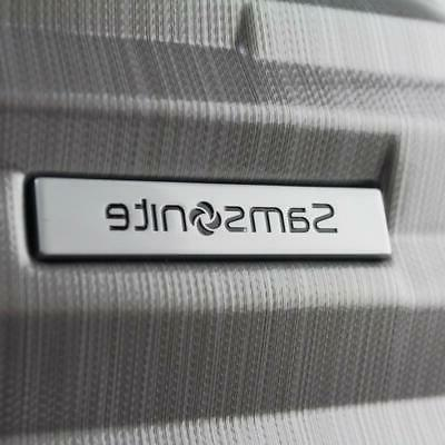 """SAMSONITE 17"""" UNDERSEATER SPINNER CARRY ON SUITCASE SILVER"""