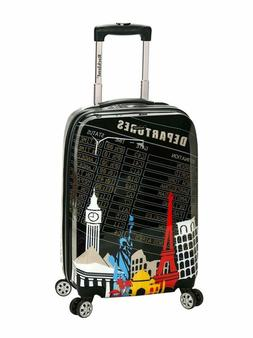Rockland Luggage 20 Inch Polycarbonate Carry On, Departure,