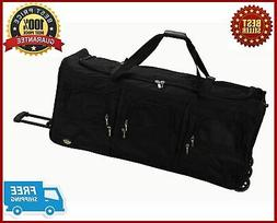 Rockland Luggage 40 Inch Rolling Duffle Bag, Black, X-Large