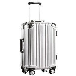 luggage aluminium frame suitcase with tsa lock