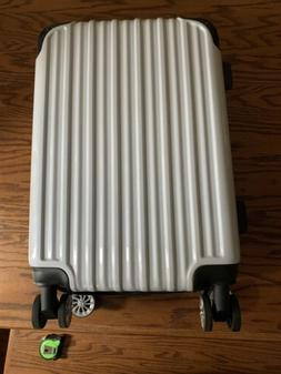 Luggage Expandable Suitcase, S_carry on white grid new US