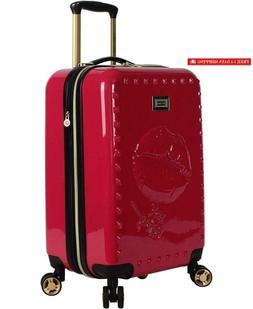 "Betsey Johnson Luggage Hardside Carry On 20"" Suitcase With S"