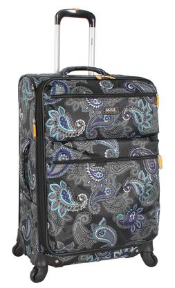 "Lucas Luggage Printed Softside 24"" Lightweight Expandable Wi"