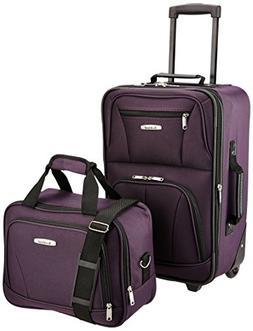 Luggage 2 Piece Set Black One Size Carry On Luggage Set Suit