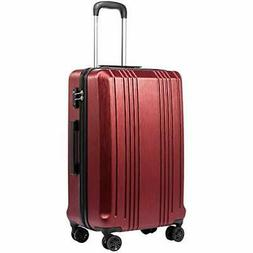Coolife Luggage Suitcase PC+ABS with TSA Lock Spinner Carry