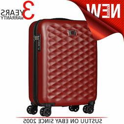 """Wenger Lumen 20"""" Hardside Luggage Global Carry-On Red Suitca"""