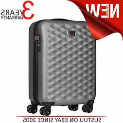 """Wenger Lumen 20"""" Hardside Luggage Global Carry-On Silver Sui"""