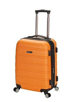 """Rockland Melbourne 20"""" Expandable ABS Orange Carry-On"""