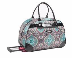 NEW Kathy Van Zeeland 22 inch Wheeled Duffel Luggage, Carry