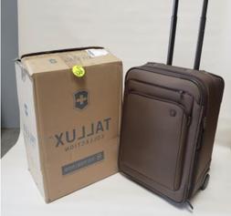 new 22 tallux wheeled luggage brown bronze