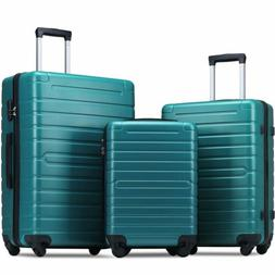 Merax 3 Piece Luggage Set Expandable Hardside ABS w/Spinner