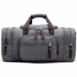 New Kenox Oversized Canvas Travel Tote Luggage Weekend Duffe