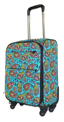 Paisley Carry On Spinner Luggage Suitcase Rolling Wheeled Li