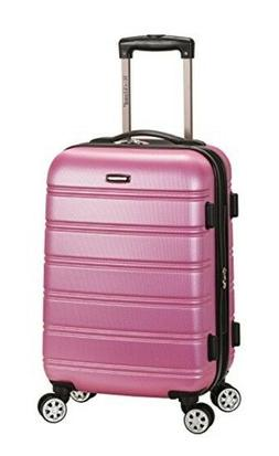 """Pink Woman Carry-On Luggage Expandable ABS 20"""" Spinner Wheel"""