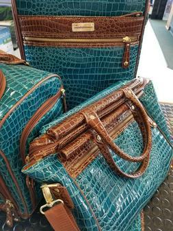 RARE Samantha Brown Peacock Camel Travel Set Luggage 7 Piece