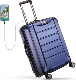 REYLEO Expandable Luggage 21 Inch PC Carry on Luggage Travel