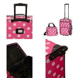 Rockland Rio Expandable 2 Piece Carry On Softside Luggage Se