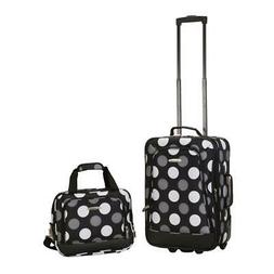 Rockland Rio Expandable 2-Piece Carry On Softside Luggage Se