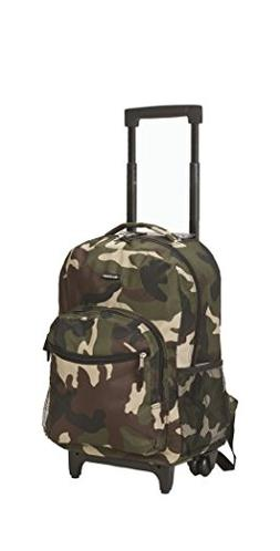 Rockland Luggage 17 in. Rolling Backpack - Camo