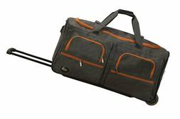 Rockland Luggage 30 Inch Rolling Duffle, Charcoal, One Size