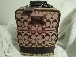 Coach Signature Stripe Boston Roller Carry-On Luggage 22 inc