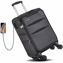 Softside CarryOns Spinner Luggage 20 Inch 8-Wheel Travel Sui