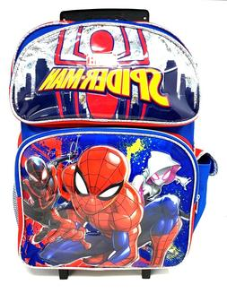 """Spider-man Rolling 16"""" Backpack - Spiderman Luggage with Whe"""