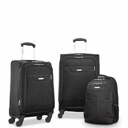 """Samsonite Tenacity 3 Piece Luggage Set - Black, Blue, 25"""", 2"""