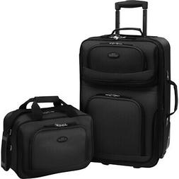 Traveler's Choice Rio 2-Piece Lightweight Carry-On Luggage S