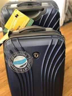 Traveler's Choice Hard Shell 2-Piece Carry On Luggage Set