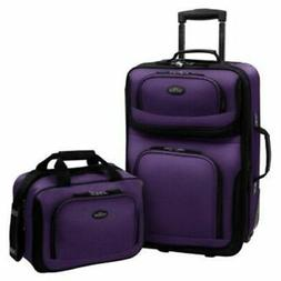 U.S Traveler Rio Two Piece Expandable Carry-on Luggage Set 2