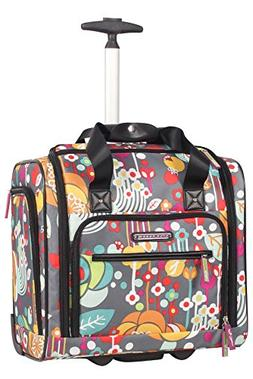 Lily Bloom Under the Seat Design Pattern Carry on Bag With W