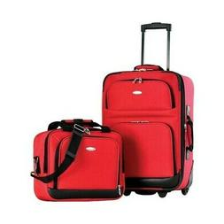 Olympia Unisex  Let's Travel! 2-Piece Carry-On Luggage Set