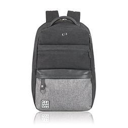 "Solo Urban Code 15.6"" Laptop Backpack, Black/Grey"