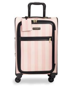 Victoria Secret Pink Stripe Suitcase Luggage Wheelie Spinner