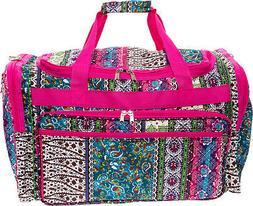 "Womens 22"" Boho Print Carry On Travel Tote Weekender Duffel"